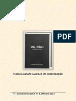 VERSÕES ALEMÃS DA BÍBLIA EM COMPARAÇÃO