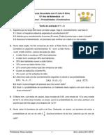 Teste Probabilidades e Combinatoria 12º ano