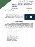 Raport al comisiei de anchetă referitor la situația de pe piața financiară din Moldova