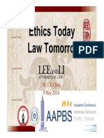 20140509 【CVCHEN@NCCU/AAPBS】Ethics Today, Law Tomorrow今天倫理,明天法律