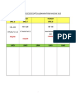 External and Internal exam schedule for The Berkeley Institute