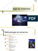 Methodologie Recherche