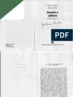 3-Héctor Agosti. Nación y Cultura, Bs. as., CEAL, 1982. (1ª Ed. 1959) Selección. Vol.1