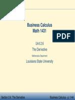 Business Calculus