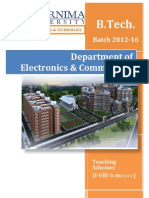 Pu Set b.tech Ec Schemes 2012-16