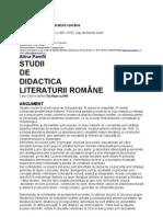 Alina Pamfil - Studii de Didactica Literaturii Romane