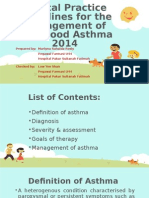 CPD 1-CPG for the Management of Childhood Asthma