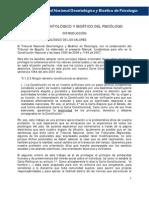 Manual Deontológico y Bioético Del Psicólogo