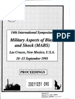 1995 International Symposium (14th) Military Aspects of Blast and Shock (MABS) Held in Las Cruces, New Mexico