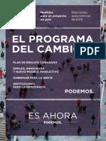 Programa Marco de Podemos para autonómicas