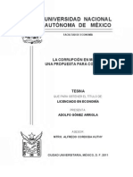 La Corrupción en México, Una Propuesta Para Combatirla