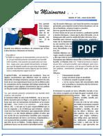 Boletin 144 Informe Misionero de Panama - Enero 2010
