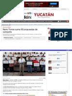 05-05-2015 Nerio Torres suma 50 propuestas.