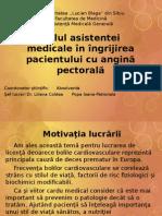 Rolul Asistentei Medicale in Ingrijirea Pacientului Cu Angina Pectorala