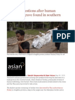 Pressing Questions After Human Trafficking Grave Found in Southern Thailand