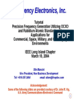 Precision Frequency Generation