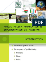 public policy and formulation by M.Ahmed Raza
