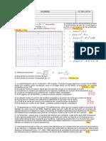 Actividad de Funciones, Función lineal, Función cuadrática, Función polinomial y Función racional