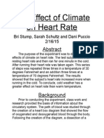 the effect of climate on heart rate