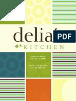 Delia's Kitchen New Breakfast Lunch Menu - Oak Park, IL