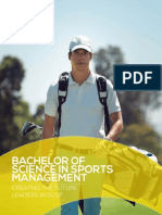 CALUMS Bachelor of Science in Sports Management