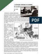 Unidade 5- Ditadura, República e Guerra