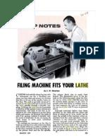Lathe Filing Machine