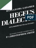Gadamer, H-G - Hegel's Dialectic (Yale, 1976)