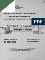 L Impact de La Fiscalité Marocaine