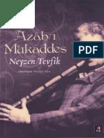 Neyzen Tevfik- Azab-ı Mukaddes