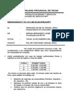 Memorandum Obligaciones Del Personal Del Grifo Miguel Grau