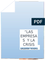 Las Empresas y La Crisis Actuales - Una Relacion Coyuntural