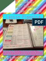 e Rincon Dren Teacher Planner Lesson Plan Template