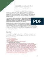 genre analysis outline assignment sheet dt 1