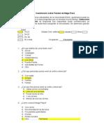 Cuestionario Para Investigacion de Mercados