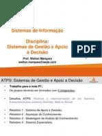 Sistemas de Gestão e Apoio à Decisão - ATPS - P1