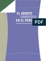 El Aborto Terapeutico en El Peru -libro