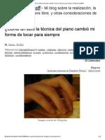 ¿Cómo Un Libro La Técnica Del Piano _ Gretchen Saathoff