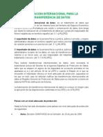 Regulacion Internacional Para La Transferencia de Datos
