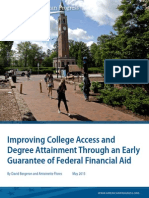 Improving College Access and Degree Attainment Through an Early Guarantee of Federal Financial Aid