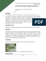 Analisis de Causas de Fractura de Piezas Ceramicas Durante El Ciclo de Horneado