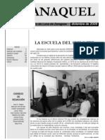 """""""ANAQUEL"""" la revista del IES Pedro de Luna. Edición diciembre 2009"""
