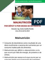 MALNUTRICIÓN POR DÉFICIT O POR EXCESO DE NUTRIENTES