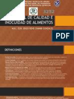 Control de Calidad e Inocuidad de Alimentos Clase Final