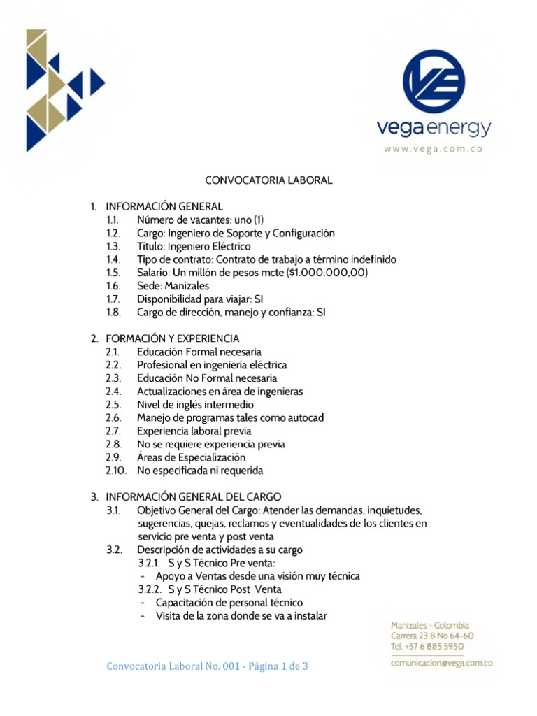 Servidores Link Apps Link-fonts Convocatoria Laboral Vega Energy