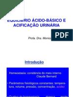 Equilíbrio Ácido-básico e Acidificação Urinária - 2o Ano MED