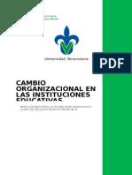 Cambio Organizacional en Las Instituciones Educativas