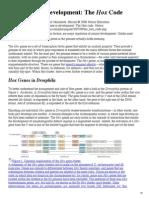 Hox Genes in Development- The Hox Code