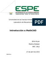 Introduccion a MathCAD