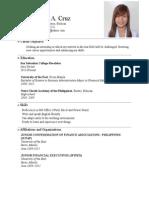 Jobs Resume